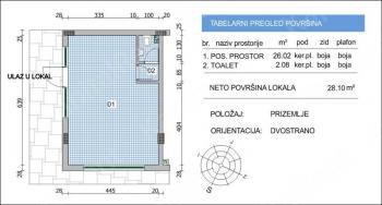 Poslovni prostor 28m² VoŽdovac
