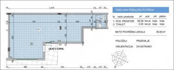 Poslovni prostor 59m² VoŽdovac