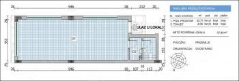 Poslovni prostor 38m² VoŽdovac